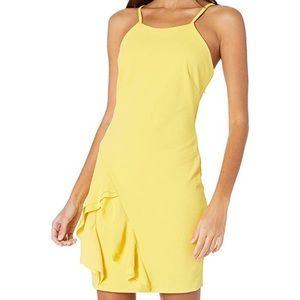 Bebe   Asymmetrical Ruffle Dress